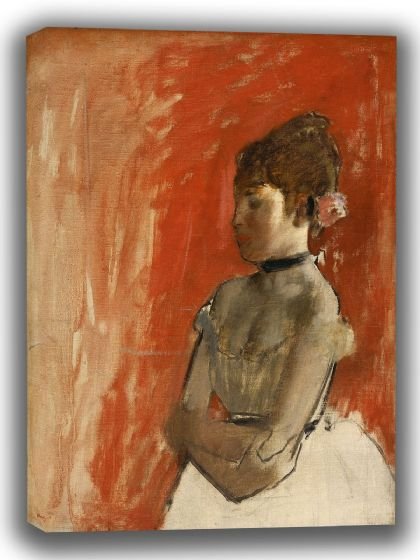 Degas, Edgar: Ballet Dancer with Arms Crossed. Fine Art Canvas. Sizes: A4/A3/A2/A1 (003737)